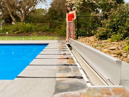 Pool covers and rollers sunbather pty ltd - Covering a swimming pool with decking ...